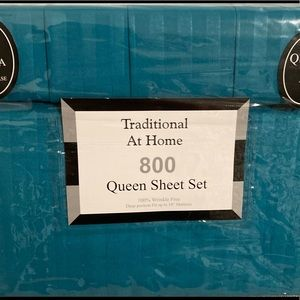 Traditional At Home 6pcQueen Sheet Set Turquoise